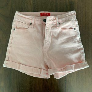 Pink high waisted Guess shorts